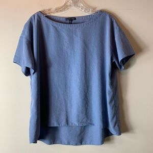 Eileen Fisher Cornflower Blue Recycled Blouse